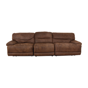 Bob's Discount Furniture Reclining Sectional sale
