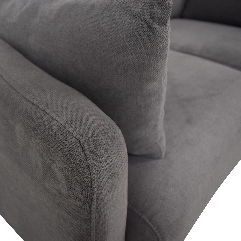 Wayfair Wayfair Grey Two-Cushion Love Seat second hand