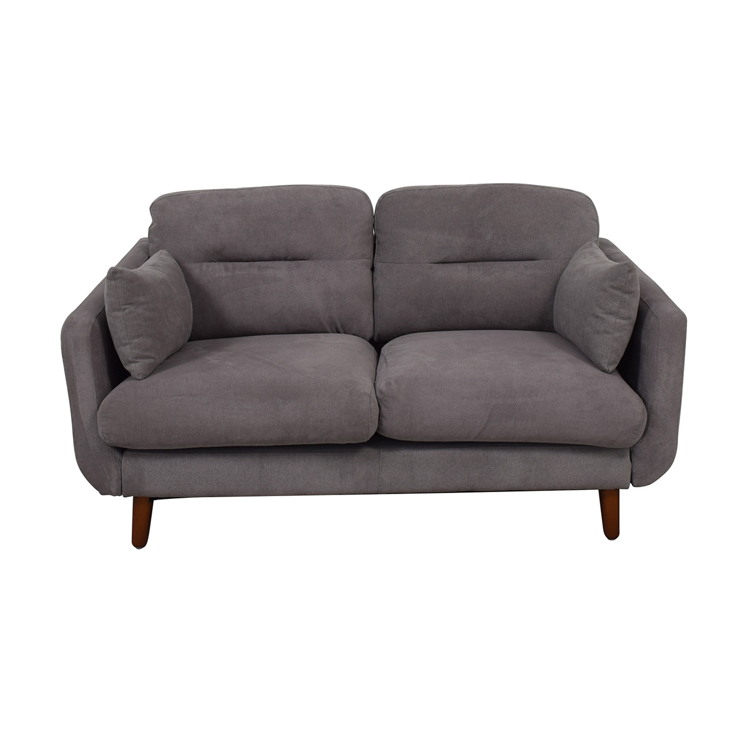 Wayfair Wayfair Grey Two-Cushion Love Seat Loveseats