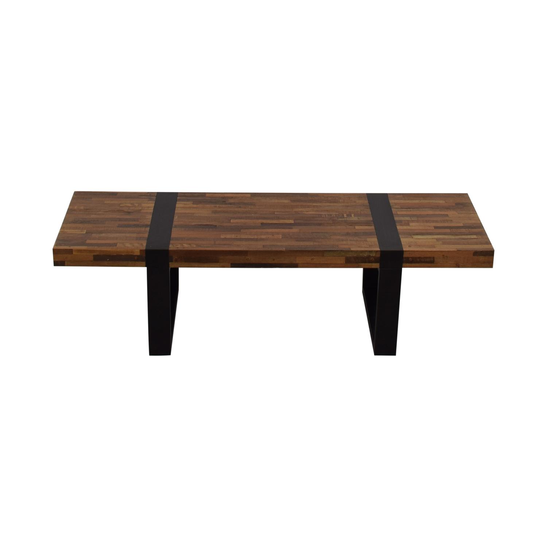 shop Crate & Barrel Seguro Rectangular Coffee Table Crate & Barrel Coffee Tables