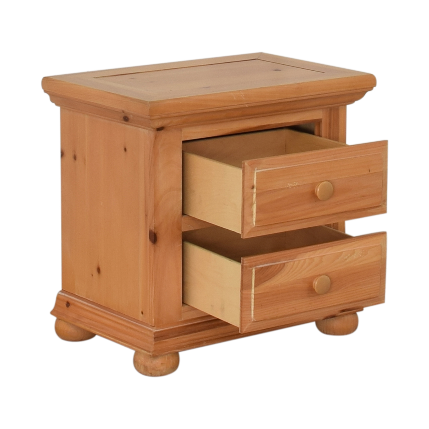 buy Broyhill Furniture Natural Two-Drawer End Table Broyhill Furniture