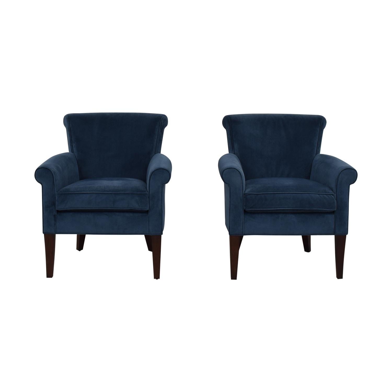 shop Stickley Furniture Sonoma Blue Accent Arm Chairs Stickley Furniture Accent Chairs