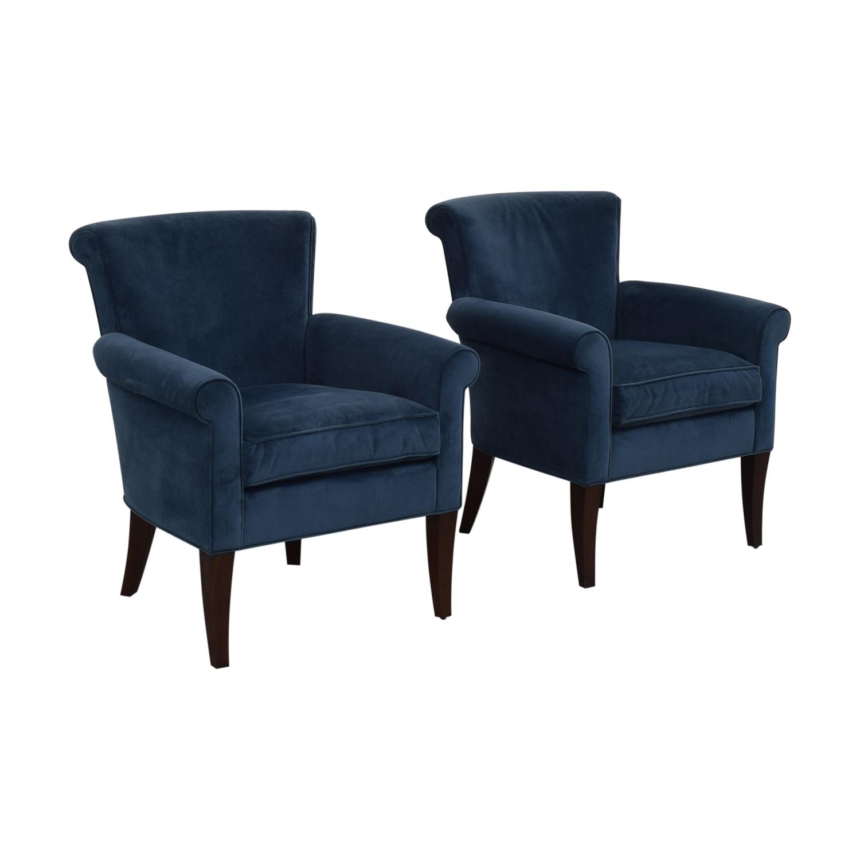 Cool 70 Off Stickley Furniture Stickley Furniture Sonoma Blue Accent Arm Chairs Chairs Machost Co Dining Chair Design Ideas Machostcouk