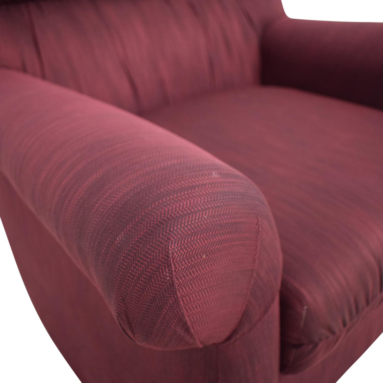 Jennifer Furniture Jennifer Furniture Burgundy Accent Chair coupon