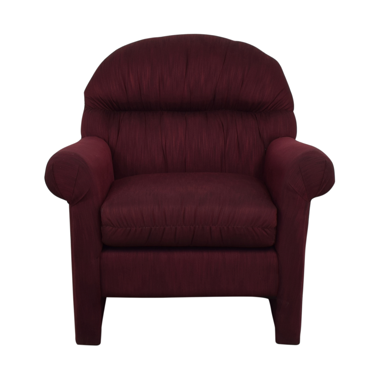 Jennifer Furniture Jennifer Furniture Burgundy Accent Chair dimensions