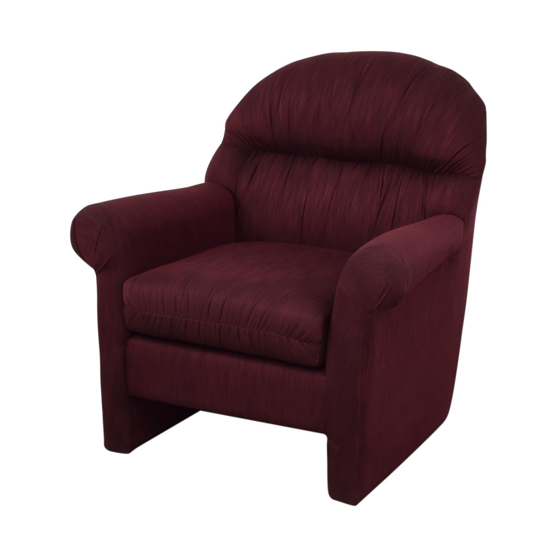 Jennifer Furniture Jennifer Furniture Burgundy Accent Chair Accent Chairs