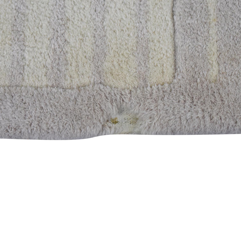 Conran Beige Stripe Wool Rug