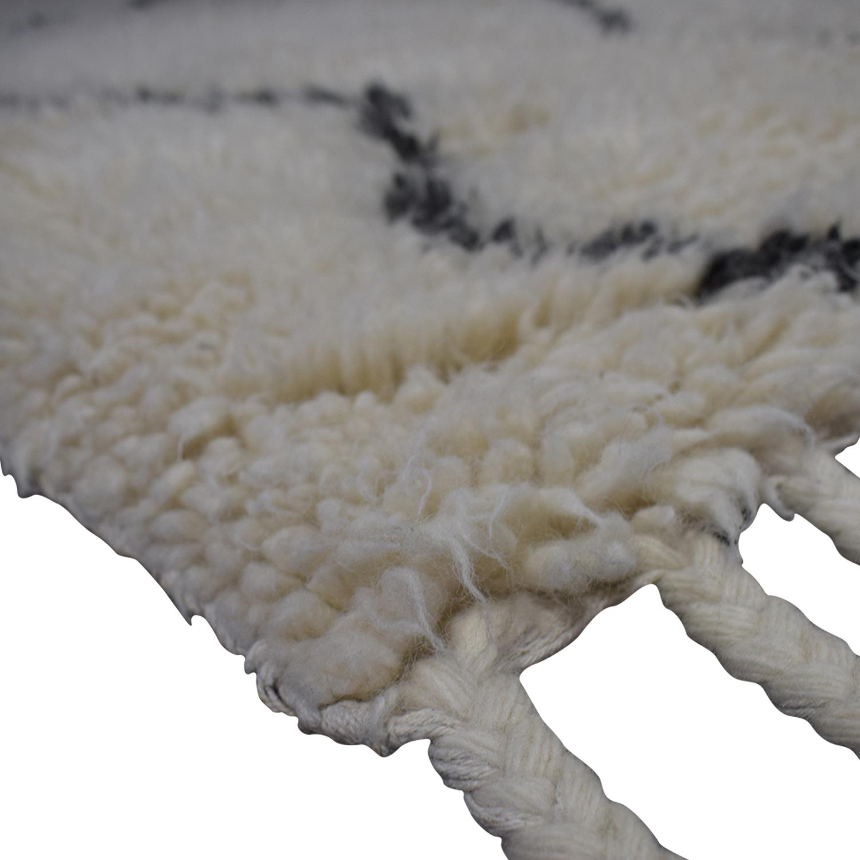 West Elm West Elm Souk White Wool Rug for sale