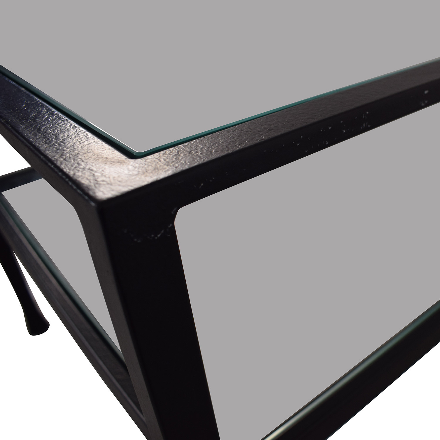 Pottery Barn Glass and Black Coffee Table / Tables
