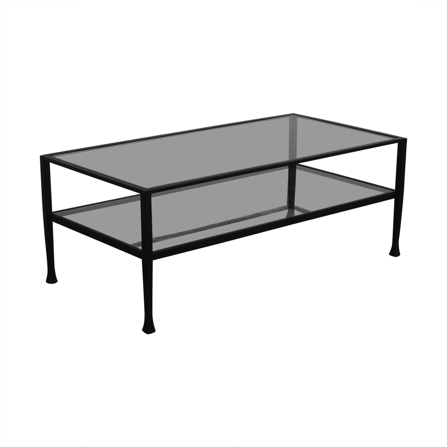 buy Pottery Barn Glass and Black Coffee Table Pottery Barn Coffee Tables