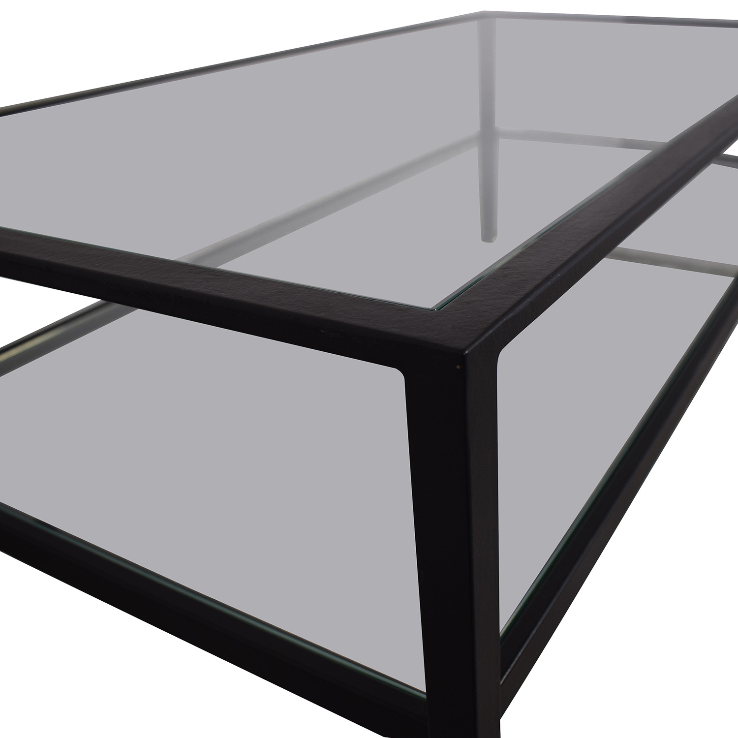 Pottery Barn Pottery Barn Glass and Black Coffee Table second hand