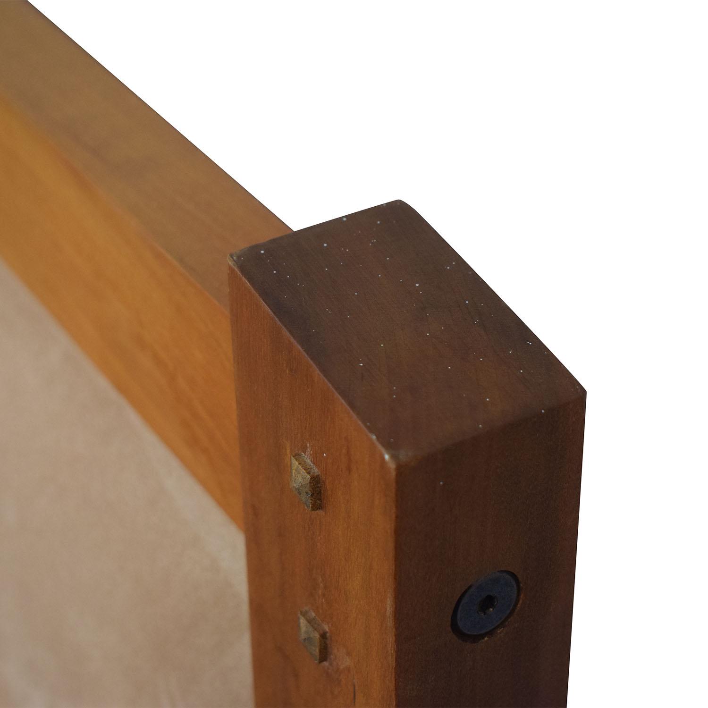 Scott Jordan Furniture Scott Jordan Cherry Beige Upholstered Platform King Bed Frame Beds