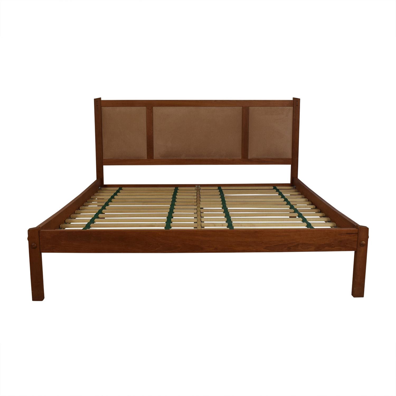 Scott Jordan Cherry Beige Upholstered Platform King Bed Frame / Beds