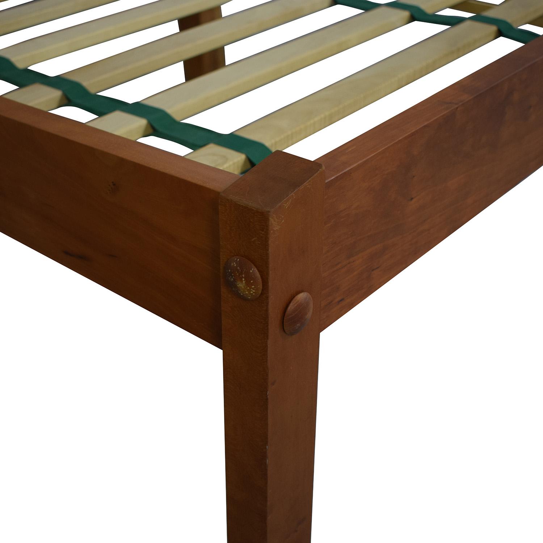 buy Scott Jordan Furniture Scott Jordan Cherry Beige Upholstered Platform King Bed Frame online