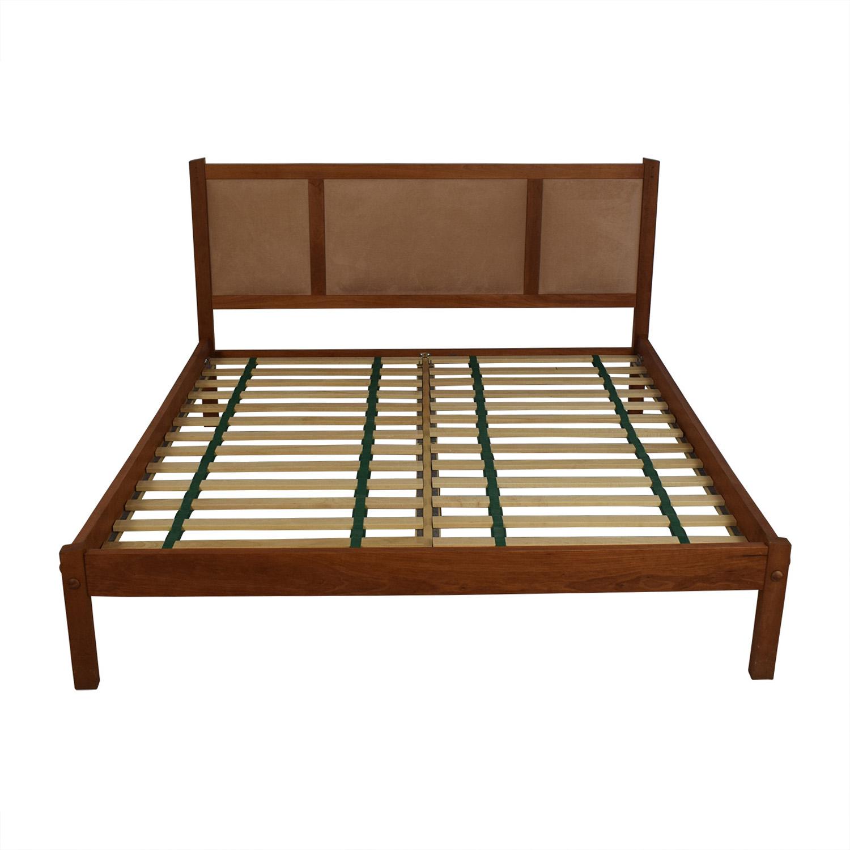 buy Scott Jordan Cherry Beige Upholstered Platform King Bed Frame Scott Jordan Furniture