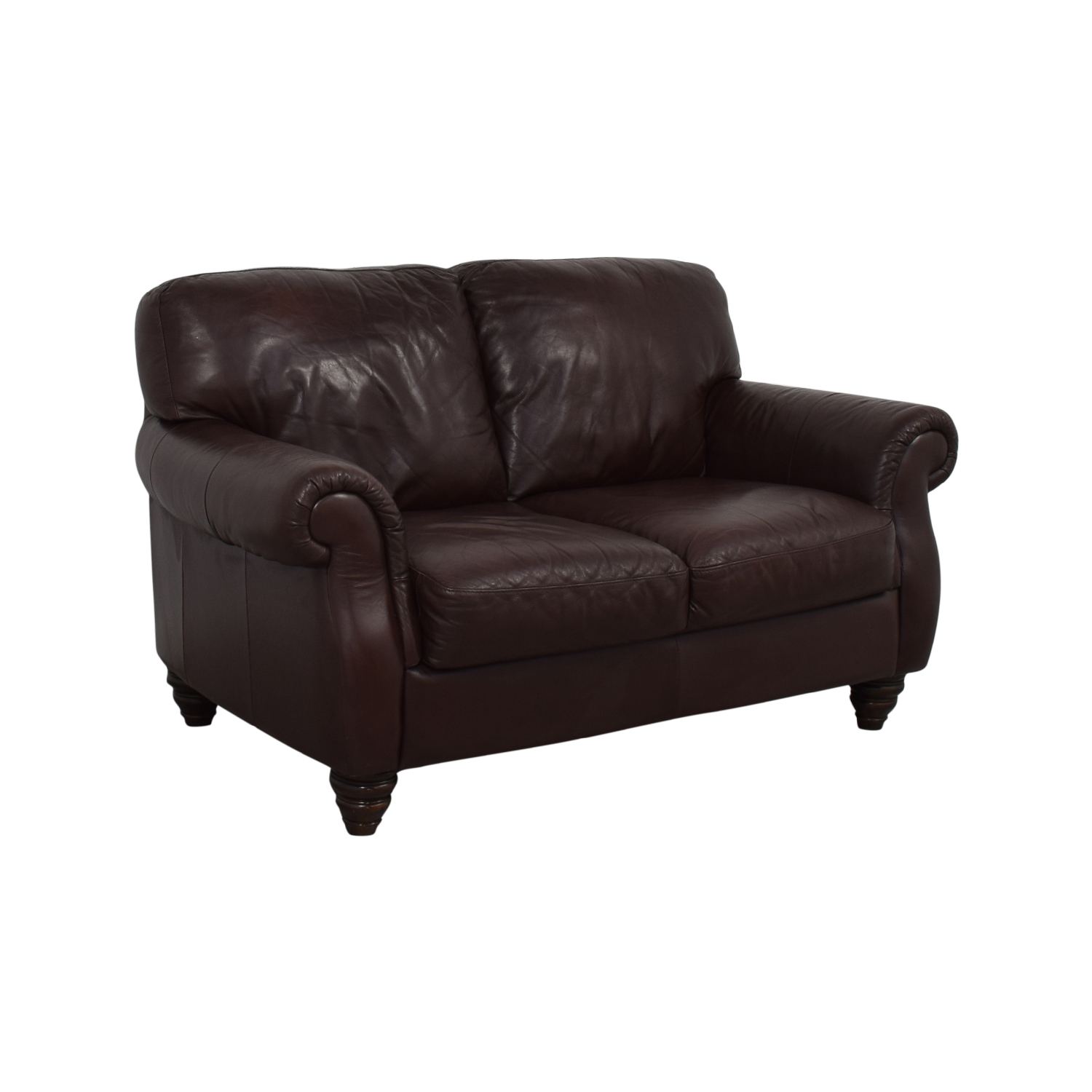 Fortunoff Italia Fortunoff Brown Two-Cushion Love Seat dimensions