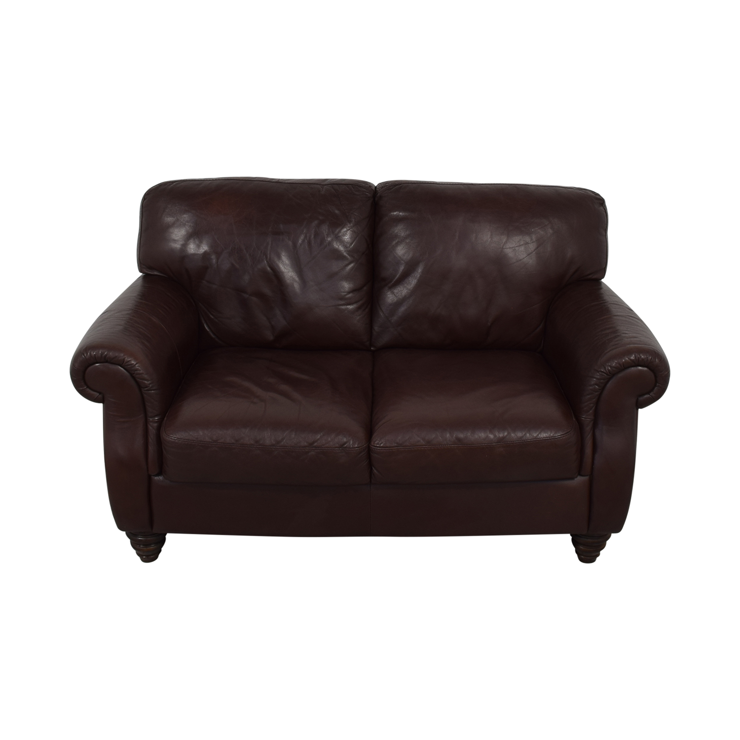 shop Italia Fortunoff Brown Two-Cushion Love Seat Fortunoff Loveseats