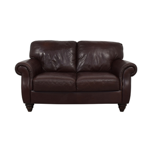 buy Italia Fortunoff Brown Two-Cushion Love Seat Fortunoff