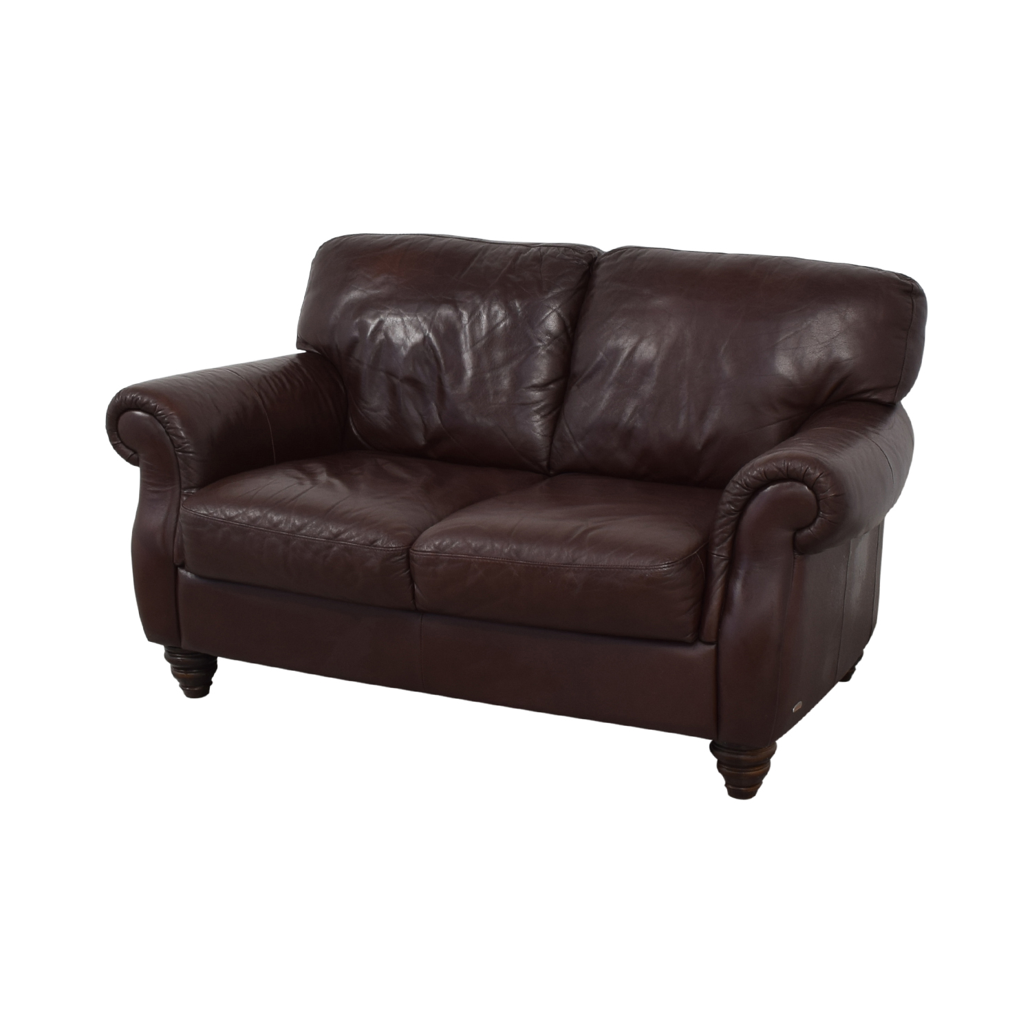 buy Italia Fortunoff Brown Two-Cushion Love Seat Fortunoff Sofas