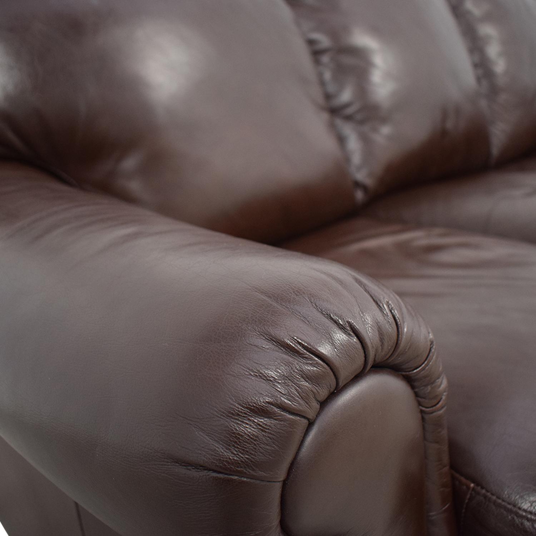 buy Italsofa Brown Three-Cushion Sofa