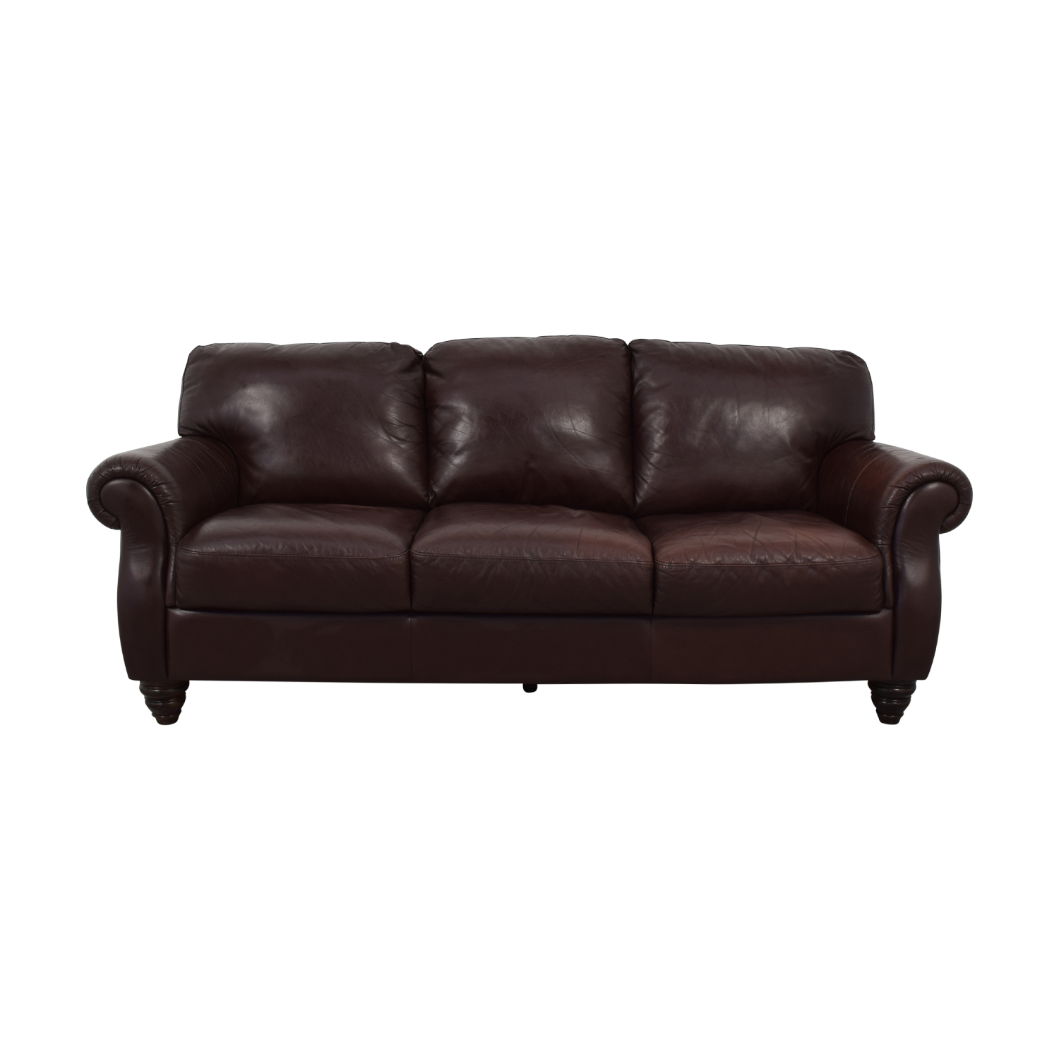 77 Off Fortunoff Italsofa Brown Three Cushion Sofa Sofas