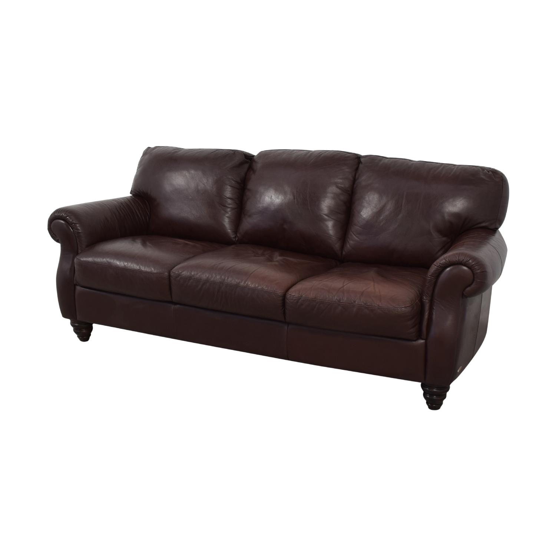 Italsofa Brown Three-Cushion Sofa Sofas