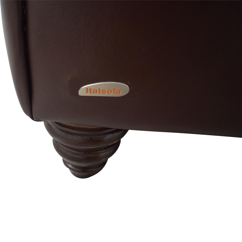 Italsofa Brown Three-Cushion Sofa nyc
