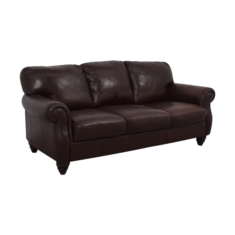 Italsofa Brown Three-Cushion Sofa on sale