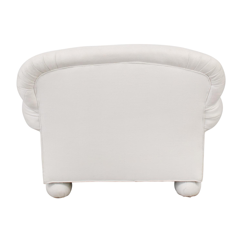 White Club Accent Chair dimensions