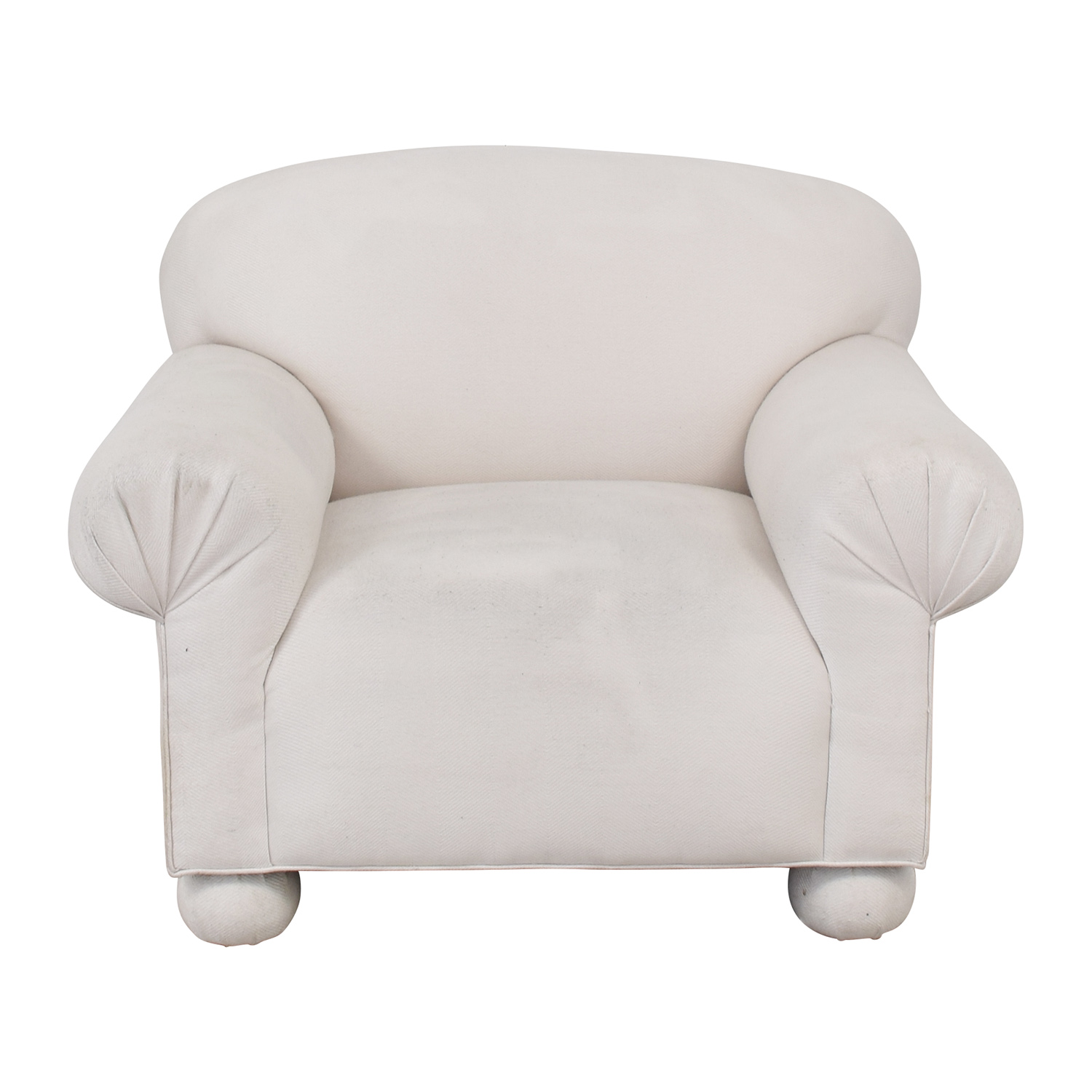 White Club Accent Chair White