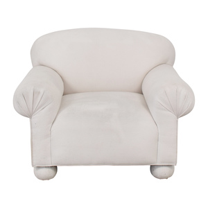 White Club Accent Chair used
