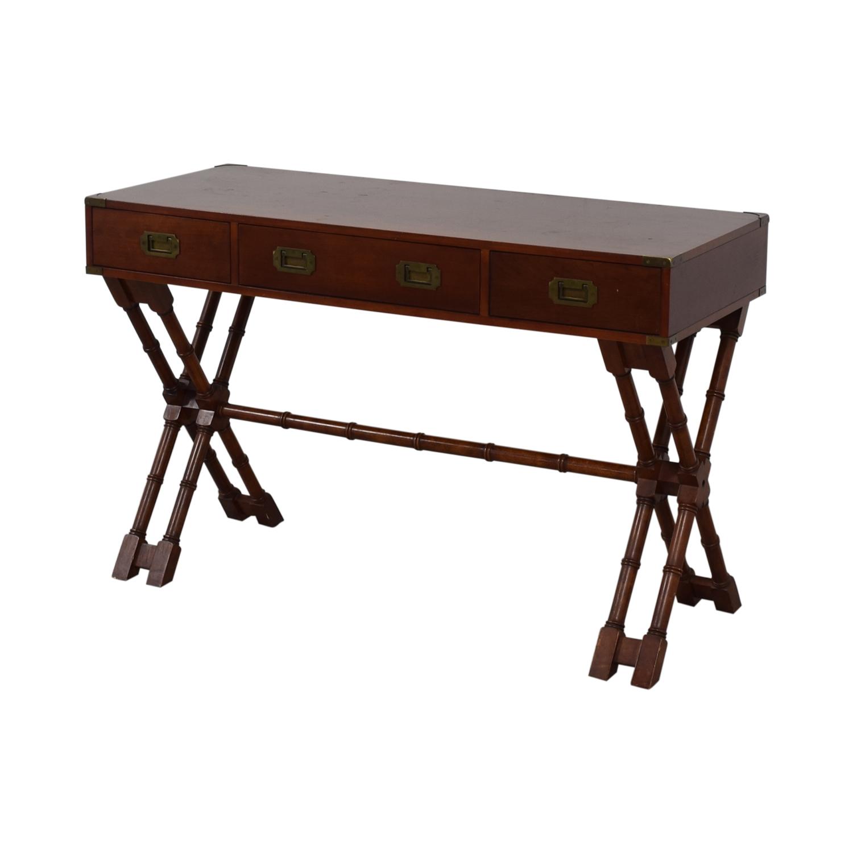 shop Bombay Company Three-Drawer Desk Bombay Company Tables
