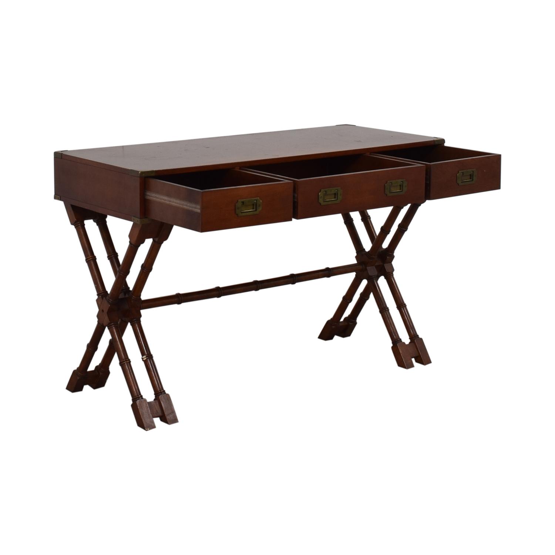 Bombay Company Bombay Company Three-Drawer Desk brown