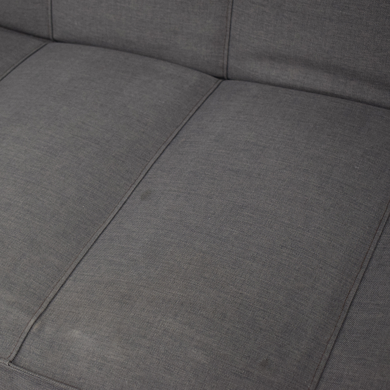 CB2 CB2 Grey Full Sofa Bed Classic Sofas