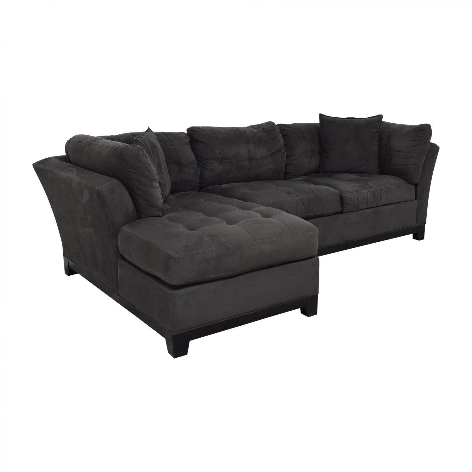 buy Cindy Crawford Home Metropolis Grey Microfiber Chaise Sectional Cindy Crawford Home Sofas