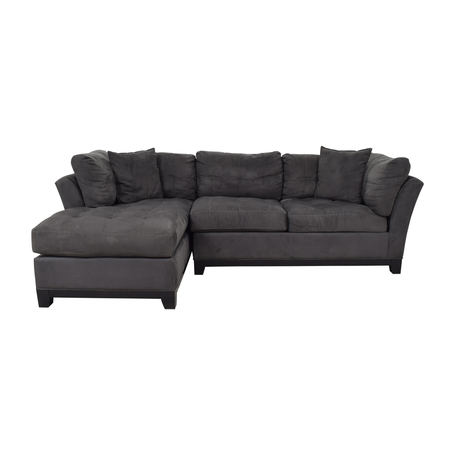 shop Cindy Crawford Home Cindy Crawford Home Metropolis Grey Microfiber Chaise Sectional online