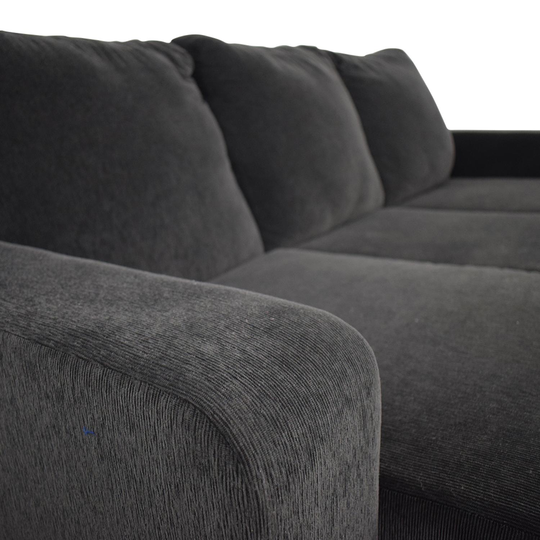 shop Mercury Row Morpheus Grey Chaise Sectional Mercury Row Sofas