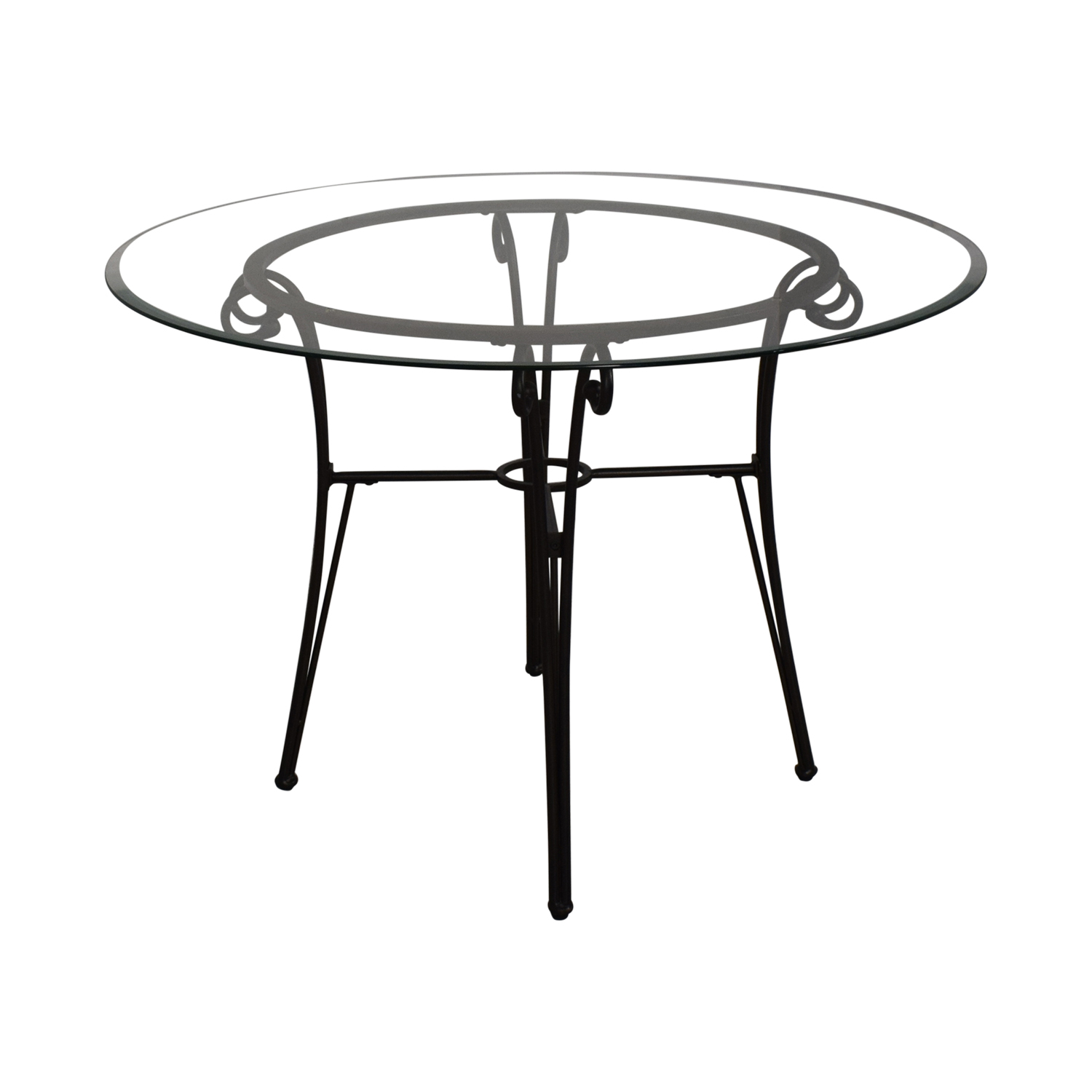 Glass and Metal Dining Table price