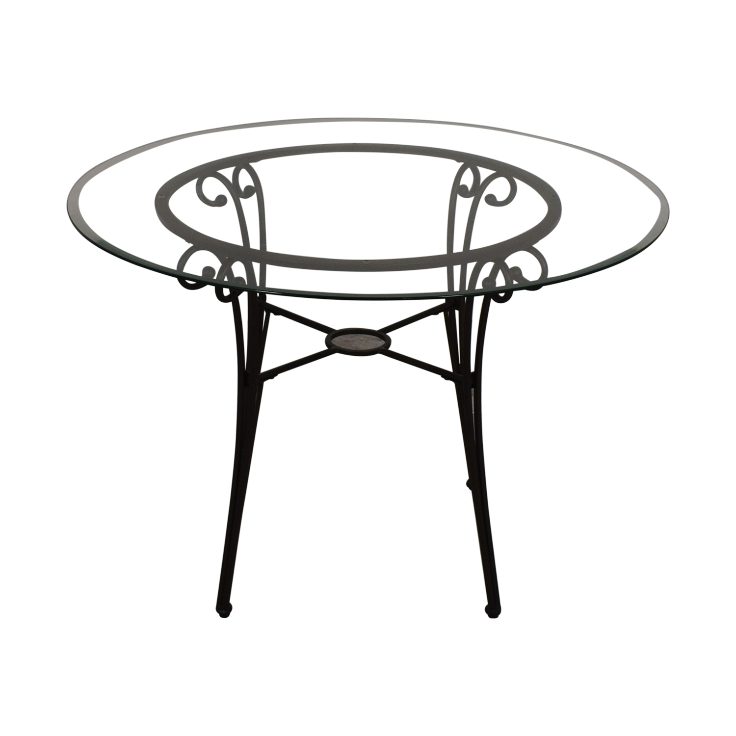 Glass and Metal Dining Table / Dinner Tables