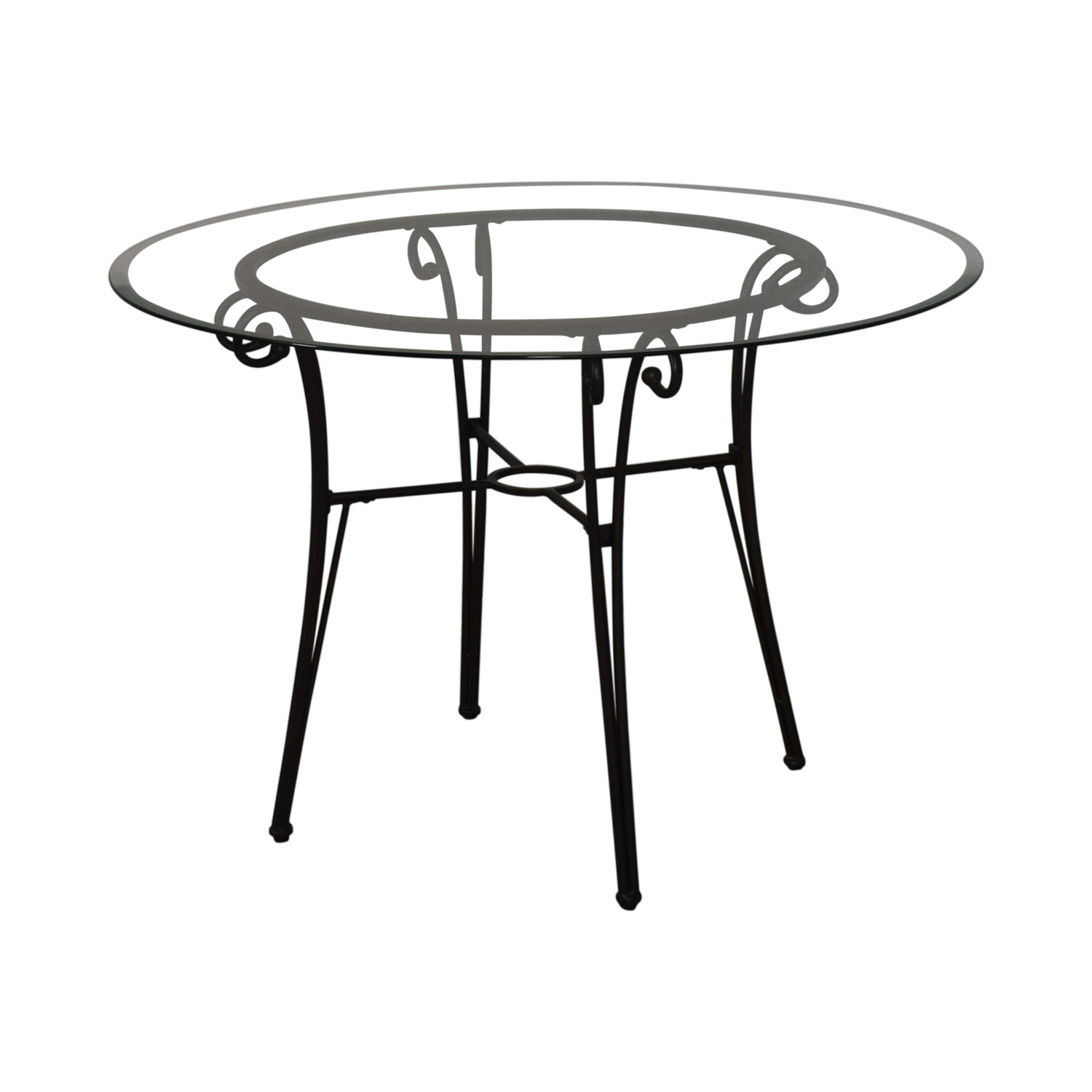 Glass and Metal Dining Table discount
