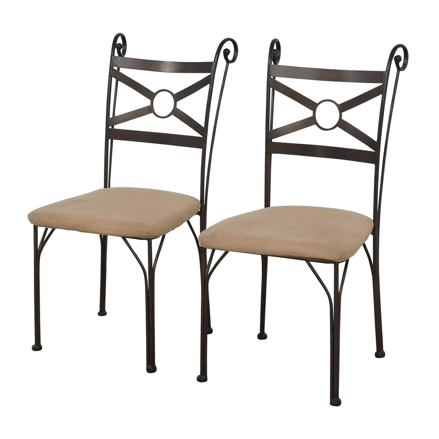 Fabric and Metal Chairs price