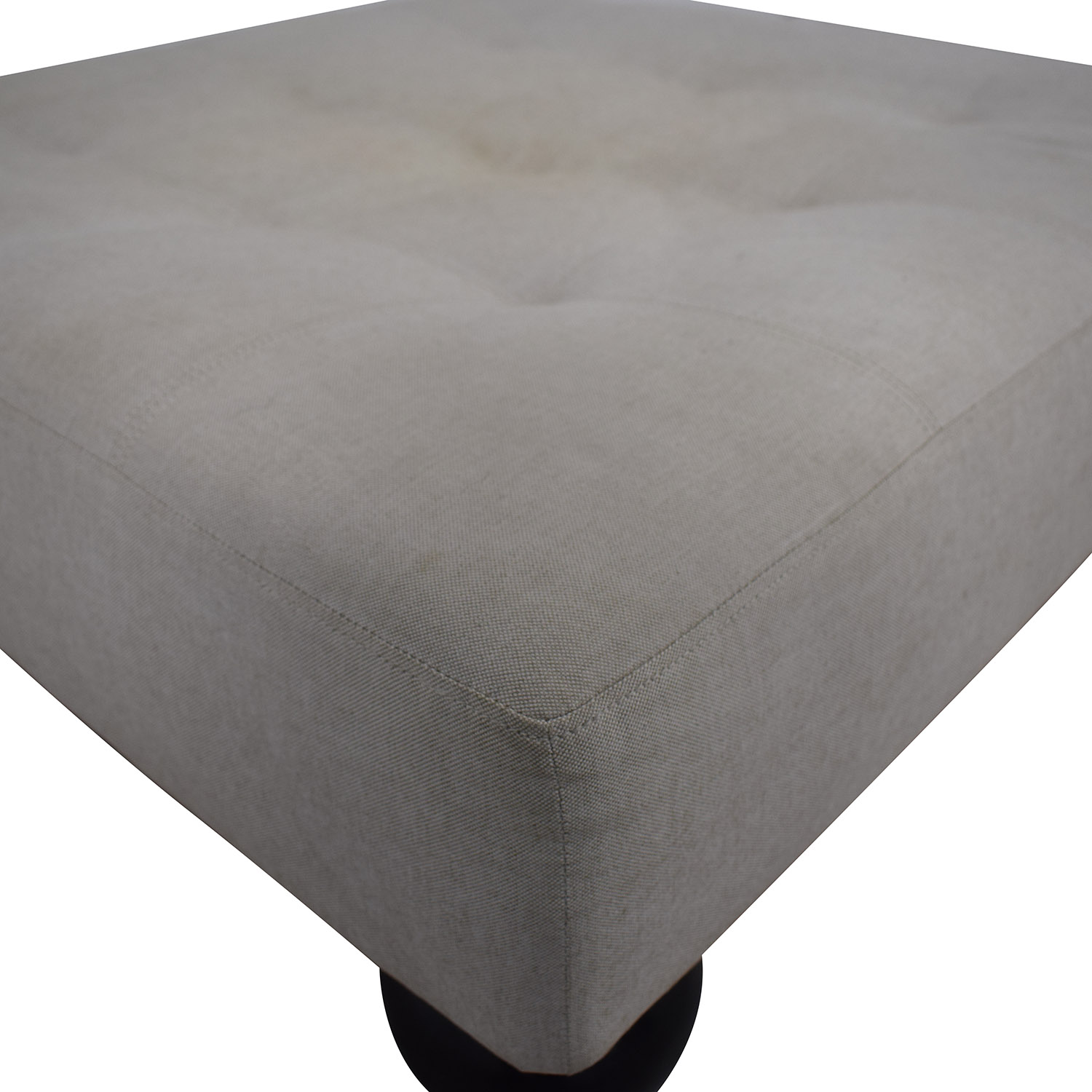 buy West Elm Grey Tufted Ottoman West Elm