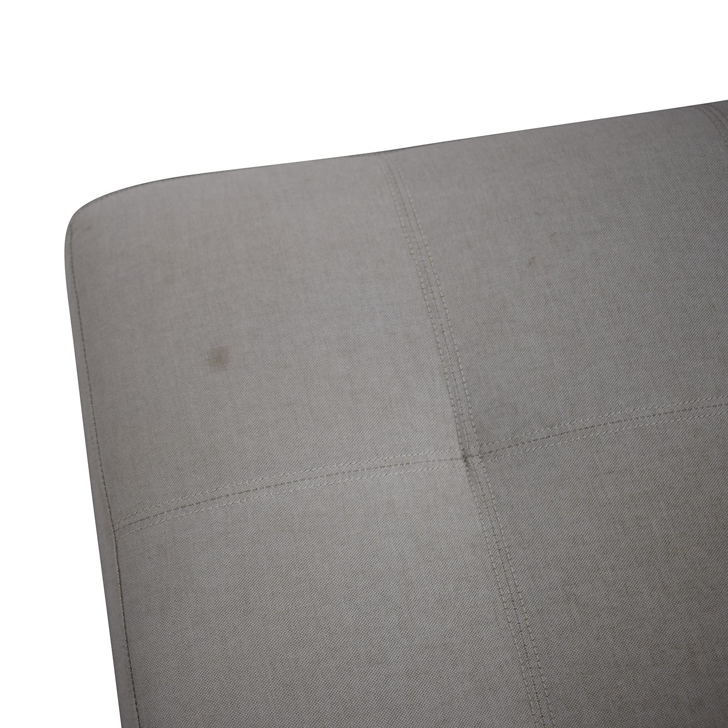 West Elm Grey Tufted Ottoman / Chairs