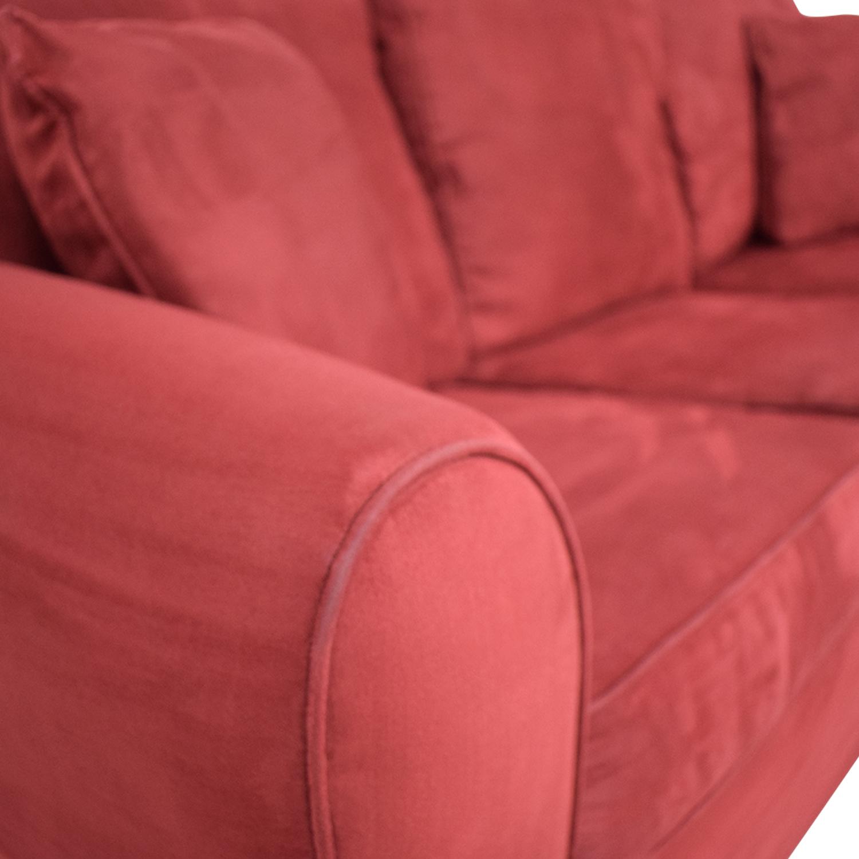 Macy's Macy's Red Sleeper Sofa on sale