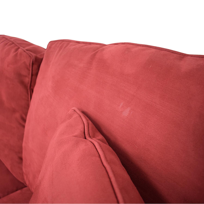 Macy's Macy's Red Sleeper Sofa dimensions