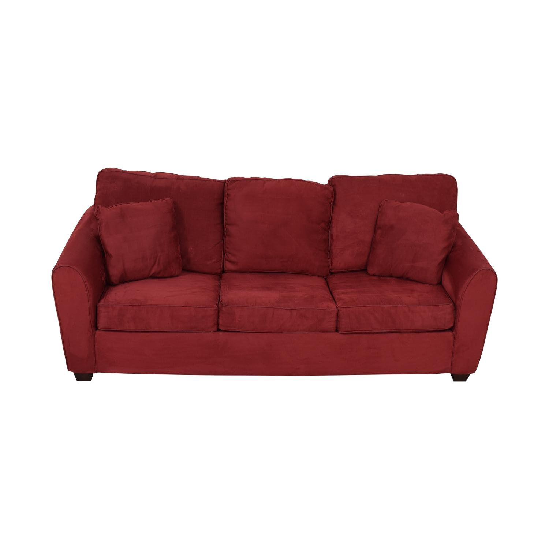 Macy's Macy's Red Sleeper Sofa nyc