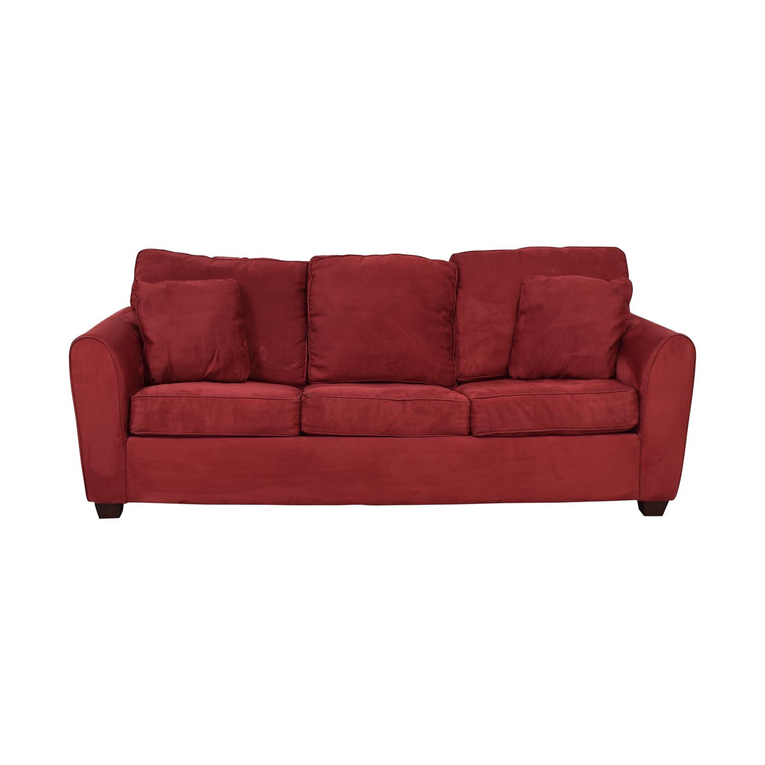 77% OFF - Macy\'s Macy\'s Red Sleeper Sofa / Sofas