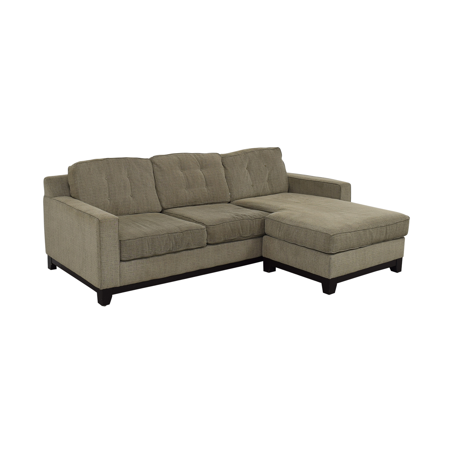 shop Macy's Macy's Grey Tufted Chaise Sectional online