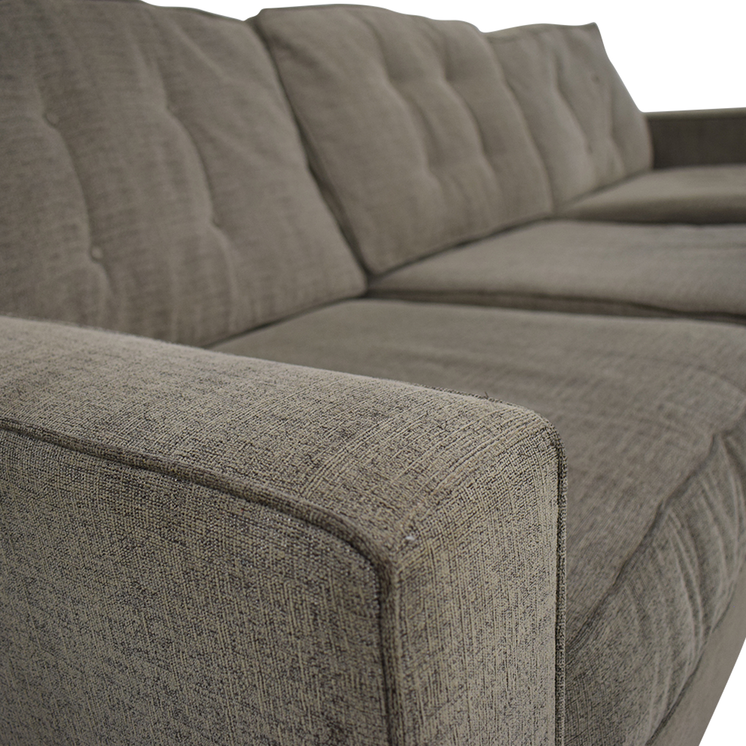 buy Macy's Grey Tufted Chaise Sectional Macy's Sofas
