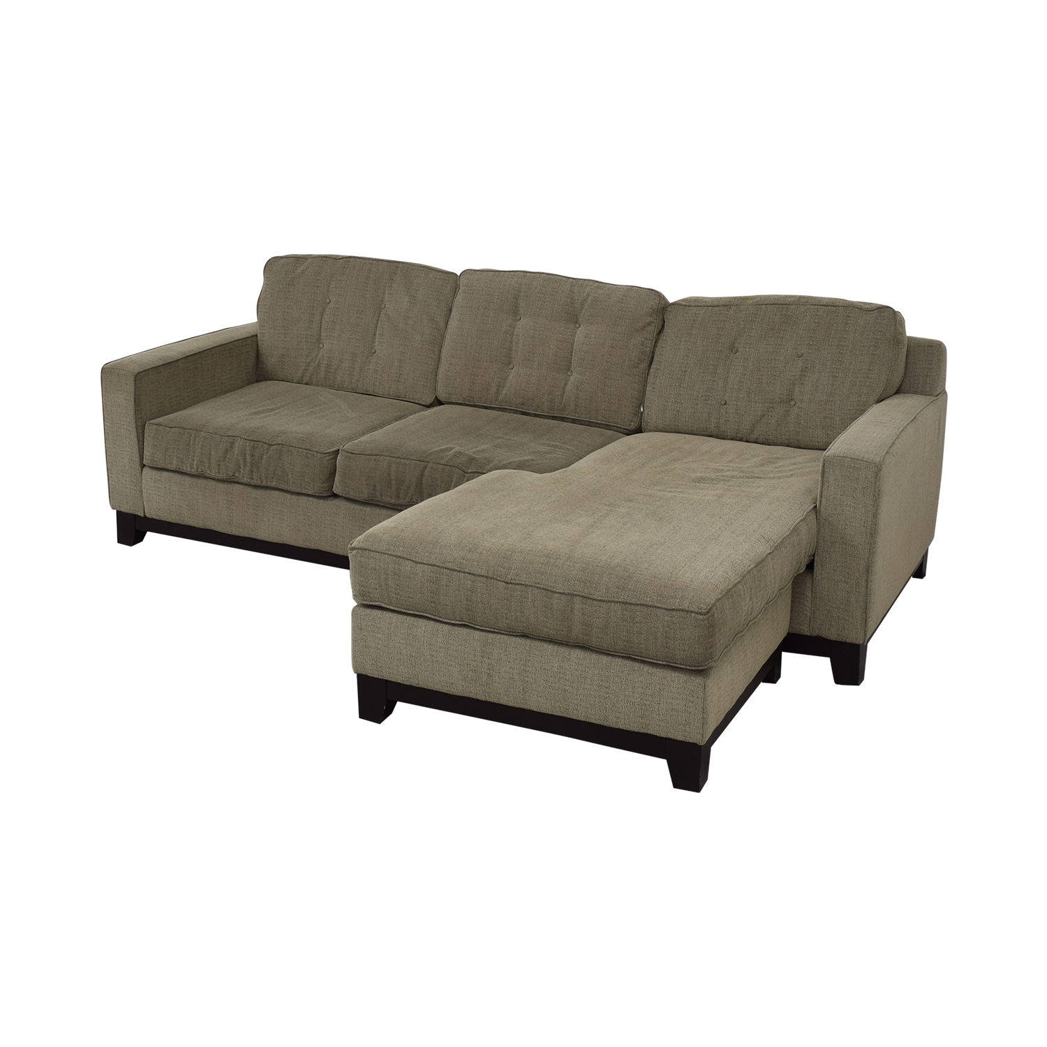 Macy's Macy's Grey Tufted Chaise Sectional nj